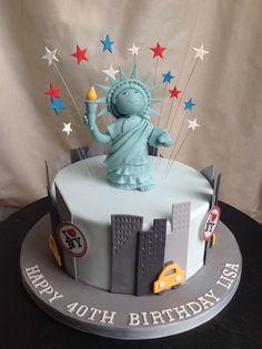 New York Themed Cake from The Little Bird Cakery