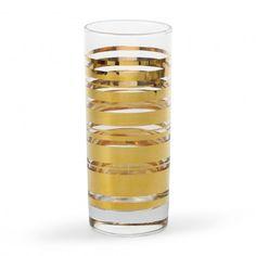 Gold Stripe High Ball glasses from C. Wonder. LOVE $54 for set of 4