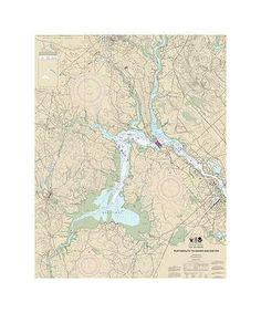 Portsmouth To Dover And Exeter Delaware River Nautical Chart Sailcloth Print