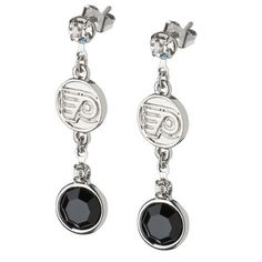 NHL Philadelphia Flyers Crystal Logo Earrings by Logo Art. $12.00. LogoArt  has creatively taken your favorite team logo in a highly polished alloy and enhanced it with clean and bright Preciosa crystals, symbolizing the distinctive team color it to create this fan inspired chic earring design.
