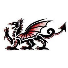 Welsh dragon tattoo