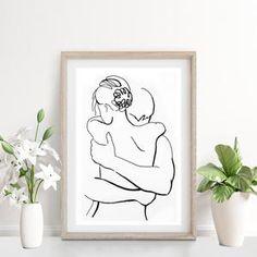 Minimal Drawings, Sexy Drawings, Art Drawings, Hipster Drawings, Couple Drawings, Minimalist Drawing, Minimalist Art, Line Drawing, Painting & Drawing