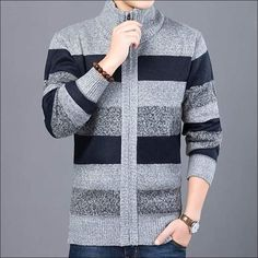 YYG Men Slim Fit Knitting Roundneck Letters Print Large Size Pullover Sweater