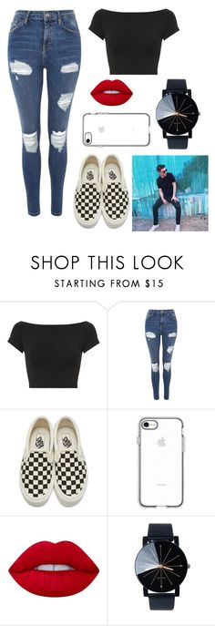 """Zach Herron: Official Girlfriend"" by emma-387 ❤ liked on Polyvore featuring Helmut Lang, Topshop, Vans and Lime Crime"