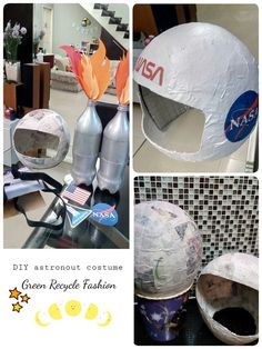 Have an astronaut costume contest.Rocket Astronaut Costume for kid Space Preschool, Space Activities, Activities For Kids, Space Projects, Space Crafts, Astronaut Party, Astronaut Costume Diy Kids, Astronaut Craft, Astronaut Helmet