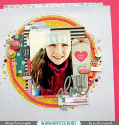 #papercrafting #scrapbooking #layouts - by Nicole Nowosad