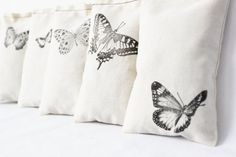 Cream Butterfly Sachets Woodland Whimsy Set of 7 by Gardenmis  I like the idea, but I'd rather have birds instead.