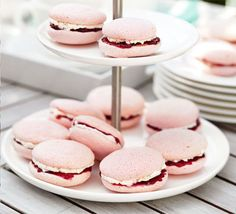 Raspberry almond bites. These heavenly teatime bites taste as gorgeous as they look