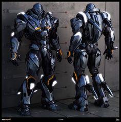 mech+mecha+costume+design+concept+future+futuristic+guardian+giant+robot+suit+Section+8+Earth+by+Baldasseroni+Alessandro+Baldasseron.jpg (1582×1600)
