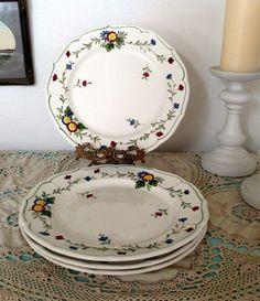 "Metlox Poppytrail Vernon ware ""Quail Ridge"" 10 3/4"" Dinner Plates #Metlox"