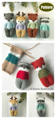 Diy Crafts - knittingforkids,knittingdoll-The Forest Friends Amigurumi is soft and suitable for baby cots. The Forest Friends Amigurumi Free Knitting Baby Knitting Patterns, Knitted Doll Patterns, Knitting For Kids, Knitted Dolls, Easy Knitting, Knitting Projects, Crochet Patterns, Loom Knitting, Knitting Toys