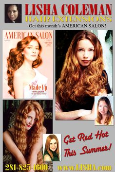The hair you've always wanted - NOW! 281-825-1600 www.lisha.com