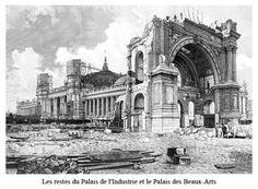 1897 Paris Expo Universelle Les premiers travaux de démolition commencent par le Palais de l'Industrie, vestige de l'Exposition de 1855