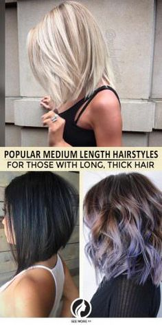 Thick hair is often viewed as a burden, but they can look cool. This post will give you 17 trendy medium length hairstyles to rock your locks!