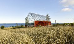 The Uppgrenna Nature House blends contemporary design with traditional Swedish architecture.