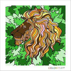 Lion king Coloring Book App, Doodles, Comic Books, Comics, Cover, Lion, Art, Leo, Art Background