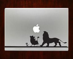 The lion king hakuna matata Simba Decals Stickers For Macbook 13 Pro Air Decal #RusticDecal