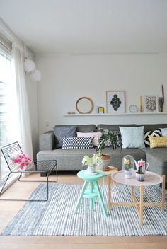 Spotted: IKEA cushions, in all shapes and sizes | Pastels | Patterns | See more on myscandinavianhome.blogspot.se