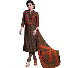 Readymade Elegant Embroidered Cotton Salwar Kameez Suit  #Designer #FreeShipping #SalwarSuit #SalwarKameez #ShopNow #DressMaterial #NewStuff #LowestPrice