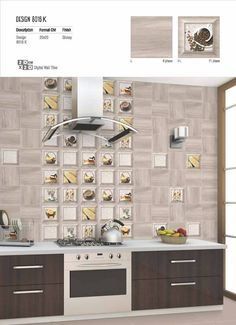 The small details make up the great masterpiece.  Design 8016 K Glossy Finish - Millennium Tiles 200x200mm (8x8) Digital Ceramic #Kitchen #Design Wall #Tiles Series  - Six Colour Technology: This six colour digital colour printing process uses CMYK inks plus a lighter shade of cyan (LC) and magenta (LM) to create more realistic tiles.