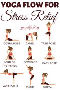 If you love yoga then you will find that you can relieve stress through some easy yoga flow. Yoga has so many benefits for the mind, body, and soul. Best yoga poses and benefits for stress relief even for beginners. Strive Fitness, Yoga Fitness, Enjoy Fitness, Yoga Inspiration, Fitness Inspiration, Easy Yoga For Beginners, Yoga Sequence For Beginners, Beginner Yoga, Yoga Meditation