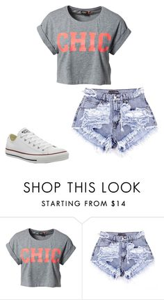 """""""School outfit #9"""" by sarahmae-2307 ❤ liked on Polyvore featuring ONLY and Converse"""