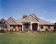Floor Plans AFLFPW16562 - 1 Story Craftsman Home with 5 Bedrooms, 3 Bathrooms and 5,068 total Square Feet