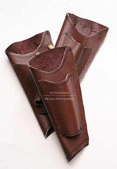 Warm Rusty Brown Umbrella Holster with Fan Pocket by AtticRaiders