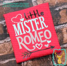 Little Mister Romeo - Valentine's Day Shirt - INFANT BOYS