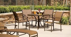 Sorrento outdoor furniture collection by Tropitone. Available from Rich's for the Home http://www.richshome.com/