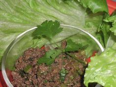 Spicy Lettuce Wraps-Hcg/Phase I would replace the aminos with low sodium soy sauce and the celery with onions and throw in a dash of sriracha for some kick! Phase 2 Hcg Recipes, Hcg Diet Recipes, Cooking Recipes, Healthy Recipes, Hcg Meals, Diabetic Meals, Healthy Dinners, Healthy Foods, Healthy Life