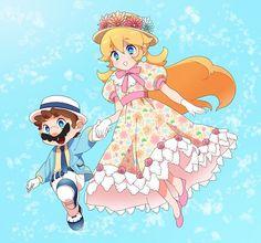 Mario and Peach - Super Mario Bros