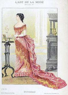 November 1882 Evening Dress ~ LÁMINAS VINTAGE, ANTIGUAS, RETRO Y POR EL ESTILO.... (pág. 161)