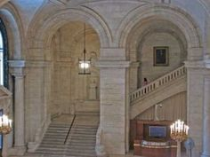 Examples of Beaux Arts style - Astor Hall - New York Public Library.jpg