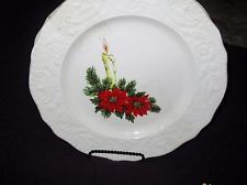 2 ADAM ANTIQUE CANONSBURG POTTERY CO. CHRISTMAS PLATES