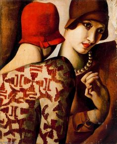 Portrait de Marjorie Ferry, 1932 - by Tamara de Lempicka (1898-1980): Polish born American Art Deco painter. Description from pinterest.com. I searched for this on bing.com/images