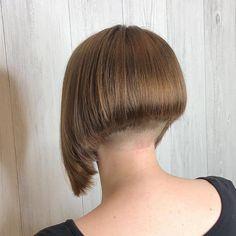 Shaved Bob, Shaved Hair Cuts, Half Shaved Hair, Shaved Nape, Wedge Bob Haircuts, Stacked Bob Hairstyles, Short Layered Haircuts, Short Bobs, 2015 Hairstyles
