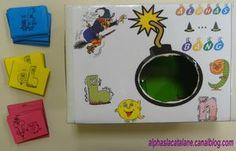 Alphas... bang ! (jeu de lecture de syllabes CL/V, V/CL, V/CC et CC/V) - LaCatalane Phonemic Awareness, Letter Sounds, Home Schooling, Homeschool Curriculum, 4 Kids, Lettering, Education, Learning, Montessori