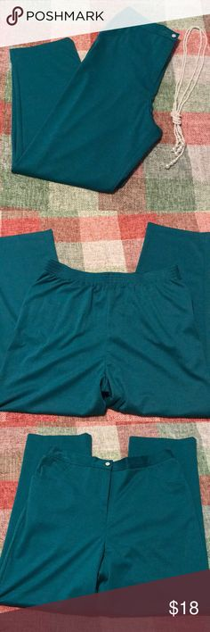 """New- Elastic Waist Pants size 16 ♦️Pull on with back elastic waist, side pockets. Comfort Waist Pants size 16,                                                                                 72% Polyester/ 34% Ryan/ 4% Spandex. 29""""                        Inseam, leg opening 8"""". Beautiful teal color. NWOT Blair Pants Trousers"""