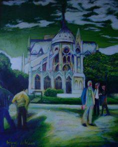 Koop 'Achter de Notre Dame/Behind the Notre Dame' van henry de haan voor aan de muur.
