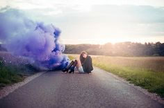 Smoke Bomb Portrait Photography