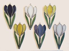 Handmade Stained Glass Crocus Suncatcher by QTSG on Etsy