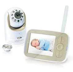 The Video Baby Monitor by Infant Optics is the first baby monitor with interchangeable lens technology. Infant Optics Video Baby Monitor with Interchangeable Optical Lens Infant Optics. Remote Camera, Security Camera, Security Surveillance, Camera Lens, Baby Health, Baby Monitor, Baby Safety, Child Safety, Baby Registry