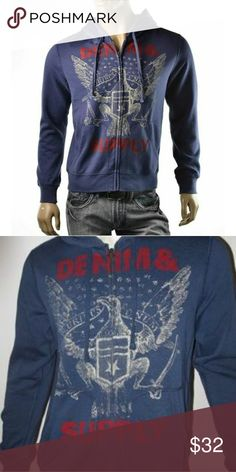 Ralph Lauren Denim and Supply/Brand new with tag Denim and Supply by Ralph Lauren zippered hoodie  New with tags Never been worn  Size Small  Perfect girl for Christmas  Comment for any questions Denim & Supply Ralph Lauren Shirts Sweatshirts & Hoodies