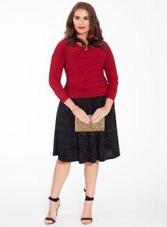 Peyton Plus Size Skirt in Black