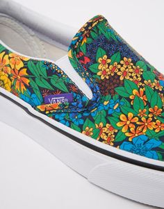 Immagine 4 di Vans Classic - Scarpe da ginnastica senza lacci a fiori liberty