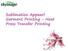 Sublimation Fashion Appearl printing with sublimation transfer paper & ink