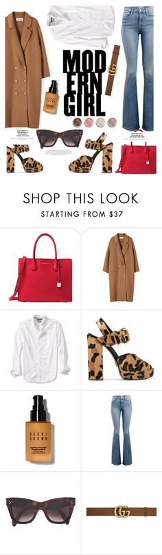 """""""modern girl"""" by themarshmallowmadness ❤ liked on Polyvore featuring Michael Kors, Banana Republic, Prada, Bobbi Brown Cosmetics, Frame, CÉLINE, Gucci, Terre Mère and modern"""