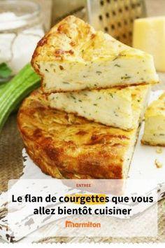 Flan de courgettes, une recette d'entrée, d'accompagnement ou même de plat principal facile et délicieux #flan #recetteflan #recettecourgette #flancourgette #courgette #flan #recette #marmiton #recettemarmiton #cuisine