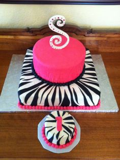pink zebra 1st  birthday party supplies | Cakes by Rosalyn: Pink and Zebra 1st Birthday Cake